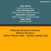 Max Bruch: Violin Concerto No. 1 - Felix Mendelssohn: Violin Concerto in E-Minor, Op. 64 - Alexander Glazunov: Violin Concerto in A-Minor, Op. 82 & Hugo Wolf: Italian Serenade von Various Artists