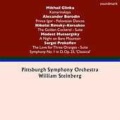 Mikhail Glinka: Kamarinskaya - Alexander Borodin: Prince Igor Dances - Nikolai Rimsky-Korsakov: Golden Cockerel Suite - Sergei Prokofiev: The Love for Three Oranges & Symphony No. 1 in D, Op. 25, 'Classical' - Modest Mussorgsky: A Night on Bare Mountain von Pittsburgh Symphony Orchestra