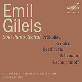 Emil Gilels: Emil Gilels: Solo Piano Recital. January  26, 1967 by Emil Gilels