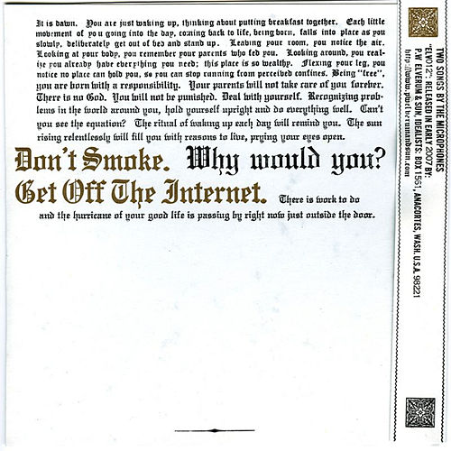 Don't Smoke/Get Off the Internet by Microphones