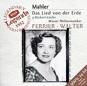 Mahler: Das Lied von der Erde; 3 Rückert Lieder de Kathleen Ferrier