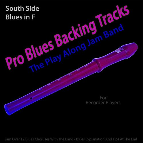 Pro Blues Backing Tracks (South Side Blues in F) [12 Blues Choruses With Tips for Recorder Players] by The Play Along Jam Band