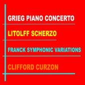 Clifford Curzon: Grieg Piano Concerto in A minor - Franck: Variations Symphoniques - Litolff: Scherzo from Concerto Symphonique No. 4, op 102 (Remastered) de The London Symphony Orchestra and  Oivin Fjeldstad: The London Philharmonic Orchestra and Sir Adrian Boult