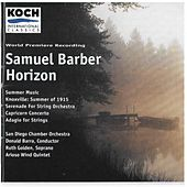 Horizon / Capricorn Concerto / Knoxville / Summer Music by Samuel Barber