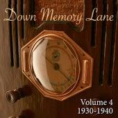 Down Memory Lane, Vol. 4: 1930 - 1940 de Various Artists