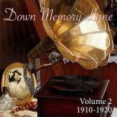 Down Memory Lane, Vol. 2: 1910 - 1920 de Various Artists