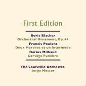 Boris Blacher: Orchestral Ornament, Op. 44 - Francis Poulenc: Deux Marches et un Intermède - Darius Milhaud: Cortège Funèbre de Jorge Mester