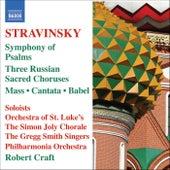 Stravinsky: Mass - Cantata - Symphony of Psalms by Various Artists