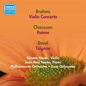 Brahms, J.: Violin Concerto / Chausson, E.: Poeme / Ravel, M.: Tzigane (Neveu) (1946, 1957) de Ginette Neveu