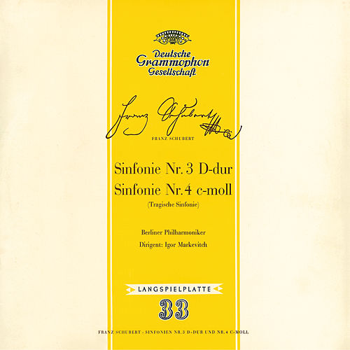 Schubert: Symphonies Nos.3 & 4 by Berliner Philharmoniker