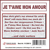 Je t'aime mon amour de Various Artists