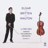Elgar & Walton: Cello Concertos – Britten: Four Sea Interludes by Li-wei Qin