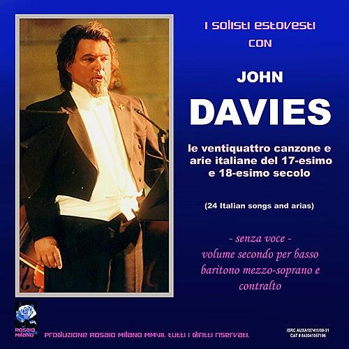 24 Italian Songs and Arias - Backing Tracks - Volume 2 - Low Keys by John Davies