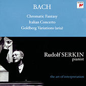 Bach: Aria from Goldberg Variations, BWV 989; Italian Concerto, BWV 971; Chromatic Fantasy and Fugue, BWV 903a; Cappricio; BWV 992; Brandenburg Concerto No. 5 by Rudolf Serkin