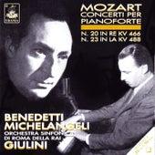 Mozart: Piano Concertos Nos. 20 & 23 de Arturo Benedetti Michelangeli