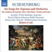 SCHOENBERG: 6 Orchestral Songs / Kol Nidre / Friede auf Erden (Schoenberg, Vol. 7) by Various Artists