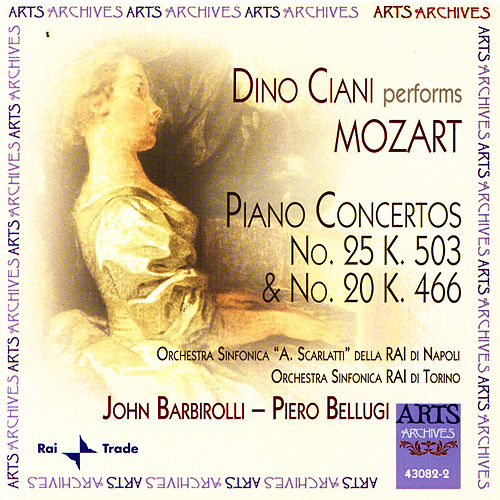 Mozart: Piano Concertos No. 25 K. 503 & No. 20 K. 466 de Dino Ciani