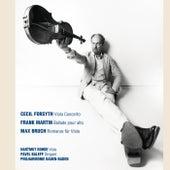 Forsyth: Viola Concerto - Martin: Ballade pour alto, orchestre à vent, clavecin et harpe - Bruch: Romanze für Viola und Orchester by Philharmonie Baden-Baden, Hartmut Rohde, Pavel Baleff