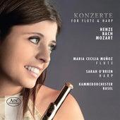 Henze, C.P.E. Bach & Mozart: Konzerte for Flute & Harp von Maria Cecilia Muñoz