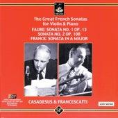 The Great French Sonatas for Violin & Piano de Zino Francescatti