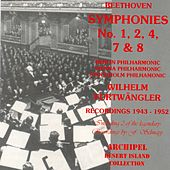 Beethoven :  Symphonies No.1,2,4,7 & 8 (Recordings 1943-1952) by Wilhelm Furtwängler