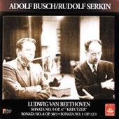 Beethoven; Sonata for Violin and Piano Nos. 1, 8, 9 von Rudolf Serkin