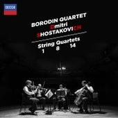 Shostakovich: String Quartets Nos.1, 8 & 14 de Borodin Quartet