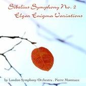 Sibelius: Symphony No. 2 - Elgar: Enigma Variations de Pierre Monteux