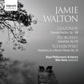 Glazunov: Conerto Ballata, Prokofiev: Concertino & Tchaikovsky: Variations on a Rococo Theme de Jamie Walton