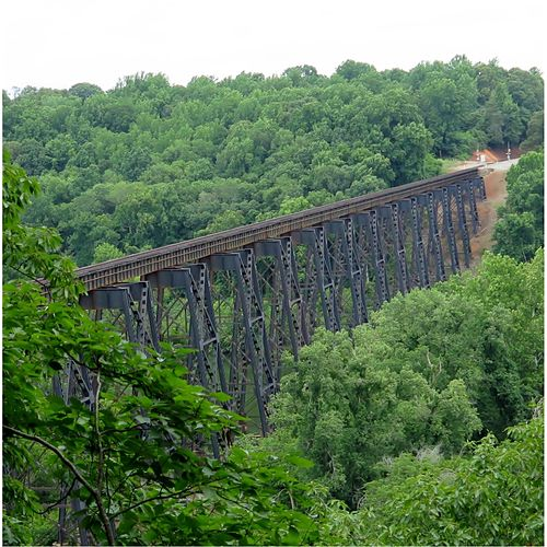The James River Trestle by Mel Parker
