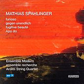 Mathias Spahlinger: Furioso, Gegen unendlich & Apo do by Various Artists