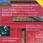 Mozart: Symphony No. 25 - Mahler: Lieder - Falla: Noches en los jardines de Espana - Bartok: Viola Concerto von Various Artists