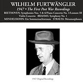 Wilhelm Furtwängler: The First Post War Recordings von Various Artists