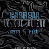 Lo Que Quiero (feat. Peso & Vetty) by Cabrera