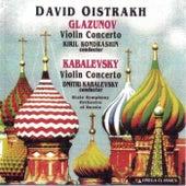 Glazunov and Kabalevsky: Violin Concertos by David Oistrakh