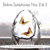 Brahms: Symphonies Nos. 2 & 3 by Otto Klemperer