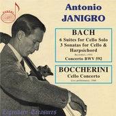 Janigro plays Bach: 6 Cello Suites & 3 Sonatas & Boccherini: Concerto by Various Artists