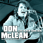 Live in New York 1974 (Live) de Don McLean