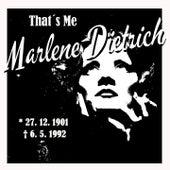 That´s Me Marlene Dietrich by Marlene Dietrich