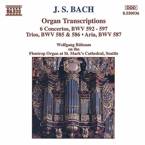 Organ Transcriptions by Johann Sebastian Bach