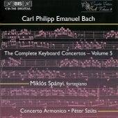 BACH, C.P.E.: Complete Keyboard Concertos, Vol.  5 von Miklos Spanyi