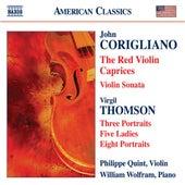 CORIGLIANO: Red Violin Caprices (The) / Violin Sonata / THOMSON, by Philippe Quint