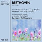 Piano Concerto No. 1 in C, Op. 15 and Sonata No. 22 in F, Op. 54 von Boston Symphony Orchestra
