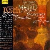 W.A. Mozart: 3 Piano Concertos/ J.Chr. Bach:  3 Piano Sonatas by J.C. Bach