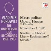 Vladimir Horowitz in Recital at the Metropolitan Opera House, New York City, November 1, 1981 by Vladimir Horowitz