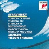 Stravinsky: Symphony of Psalms, Symphony in C; Symphony in Three Movements von Michael Tilson Thomas