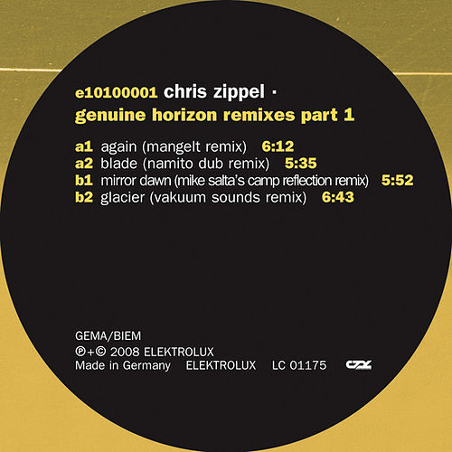 Genuine Horizon Remixes Part 1 by Chris Zippel