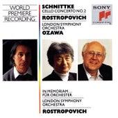 Schnittke:  Concerto No. 2  for Cello and Orchestra, In memoriam...for Orchestra by Mstislav Rostropovich