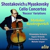 Shostakovich & Myaskovsky: Cello Concertos de Mstislav Rostropovich