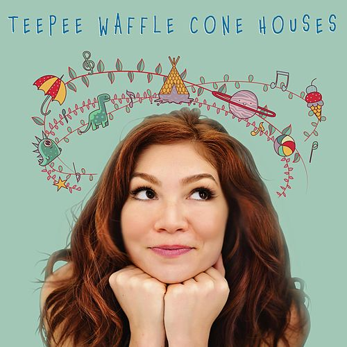 Teepee Waffle Cone Houses by Valerie Ann